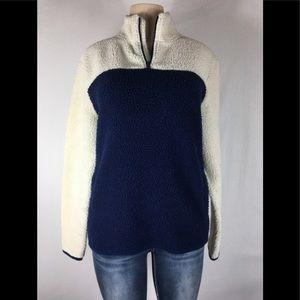 Old navy Sherpa sweater size medium